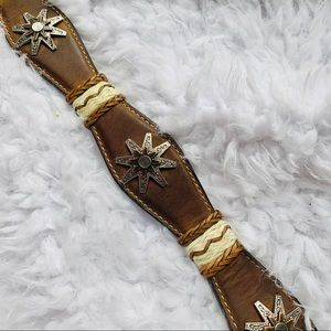 {NOCONA} Leather Star Studded Western Belt